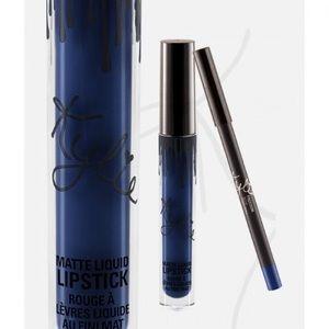 Kylie Jenner Lipkit Freedom Matte Blue Lipstick